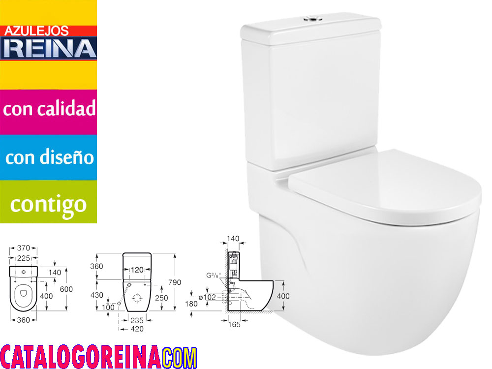 Roca inodoro compacto meridian for Roca meridian compacto precio