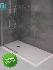 .Platos de ducha carga mineral Textura LISO Nudespol