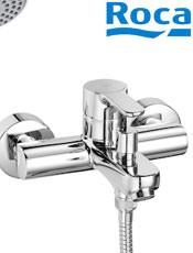 ? Comprar Roca: Monomando para baño-ducha L20 Ref: A5A0109C02. con inversor automático, ducha de mano, flexible de 1,70 m