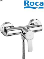 ? Comprar Roca: Monomando para ducha L20 Ref: A5A2009C02. con ducha de mano, flexible de 1,50 m. y soporte de ducha