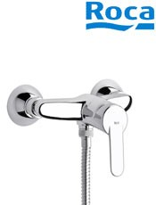 ? Comprar Roca: Monomando para ducha VICTORIA Ref: A5A2025C02. con ducha de mano, flexible de 1,50 m. y soporte de ducha