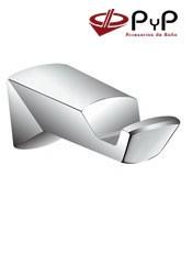 Percha TUCÁN TU-03 PyP.Colocación: Con tornillos ó Adhesivo SEALANT Medida: 3,2x3,5x8,5 cm. Acero Inox 304 y Latón Cromo