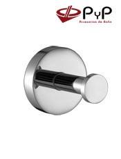 Percha ODEÓN OD-03 PyP. Colocación: Con tornillos ó Adhesivo SEALANT Medida: 5,5x5,5x5,5 cm. Acero Inox, Latón y Zámak Cromo