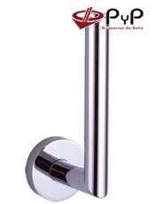 Portarrollo Reserva ODEÓN OD-20 PyP. Colocación: Con tornillos ó Adhesivo SEALANT Medida: 5,5x16x8 cm. Acero Inox, Latón y Zámak
