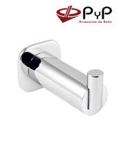 Percha BASIC BC-03 PyP.Colocación: Con tornillos ó Adhesivo SEALANT Medida: 3,5x3,5x6,5 cm. Material: Latón y Zámak