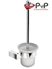 Escobillero Pared KIRO KI-10/KI-11 PyP Colocación: Con tornillos ó Adhesivo SEALANT Medida: 15x37x12 cm. Latón y Zámak