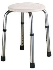 Taburete AC-159 Aluminio PyP.Diámetro asiento: 32 cm. Dimensiones: 46x46cm. Altura: 41-59cm. Material: aluminio y ABS.