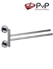 Toalleros baño Barra Doble ODEÓN OD-15 PyP. Colocación: Con tornillos ó Adhesivo SEALANT Medida: 44x16,5x5,5cm.