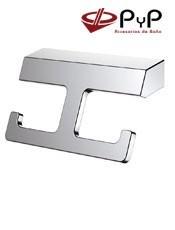 Perchas baño INDI IN-03 PyP. Colocación: Con tornillos. Medida: 21x12x8 cm.Acero Inox 304, Latón y Zámak