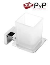 Portavasos Pared NICK NI-08 PyP.Colocación: Con tornillos ó Adhesivo SEALANT Medida:8x9,5x11 cm Inox 304, Latón y Zámak