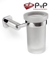Portacepillos baño Pared BASIC BC-09 PyP.Colocación:Con tornillos ó Adhesivo SEALANT Medida: 11x12x10 cm Material: Latón y Zámak