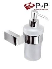 Dosificadores de Jabón KIRO KI-99 PyP Colocación:Con tornillos ó Adhesivo SEALANT 11x17x10 cm. Material: Latón y Zámak