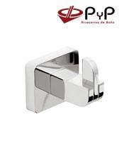 Percha DONA DO-03 PyP Colocación: Con tornillos ó Adhesivo SEALANT Medida:5,5x4,5x5,5 cm. Material: Latón