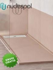 Plato de Ducha Textura LISO Semimarco Nudespol. Plato de ducha en carga mineral, un material resistente y de larga duración.