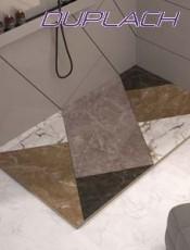 Platos de ducha de resina stone mosaico color de duplach. Cambiar Bañera por Ducha