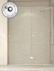 . Mampara ducha frontal plegable AZAHAR Glassinox Nuestras mamparas son nuevas y con garantía nacional de 2 años.