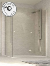 Mampara ducha angular plegable TRIANA Glassinox