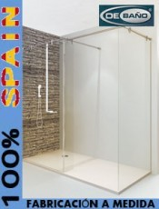 Estilo a tu medida. Mampara ducha cristal fijo EGEO Debaño. El mejor momento para comprar.