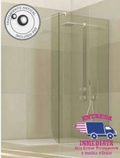 Mampara cristal fijo para ducha IRIMI Glassinox. Nueva mampara en nuestra tienda online en oferta. Envio Gratis