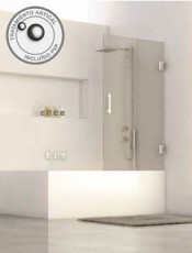 Mampara de Baño MALIBU Inox Brillo