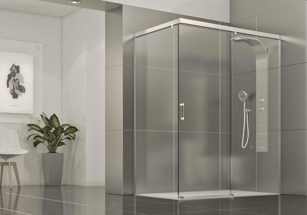 Glassinox mampara de ducha mediterraneo - Mampara para ducha ...