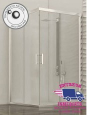 Mamparas de Ducha NIÑA 120 80 Plata Alto Brillo glassinox. nuevo modelo en nuestra tienda online de venta por internet