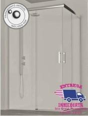 Mamparas de Ducha ONTARIO Plata Alto Brillo glassinox. Compra tu nuevo modelo en nuestra tienda online.